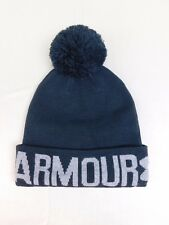 2aa09a01a02 Under Armour Cold Gear Graphic Pom Pom Winter Beanie Hat Carbon Black  6261