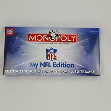 Monopoly My NFL Edition Board Game Complete 2006 with Removable/Reusable Labels