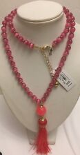NWT Kate Spade Pink Multi Swing Of Thing Necklace