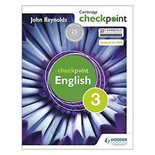 Checkpoint English 3 John Reynolds New Edition Hodder Education Cambridge Book