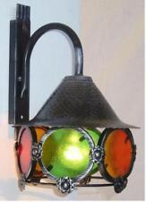LANTERNA A MURO COLORI IN FERRO BATTUTO LANTERNE APPLIQUE LAMPIONE LAMPADE