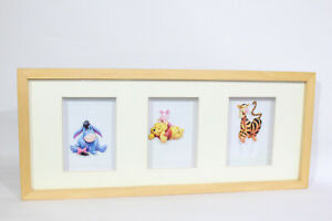 Winnie the Pooh Picture 3D Wooden Photo Frame - Eeyore, Pooh, Tigger - Nursery