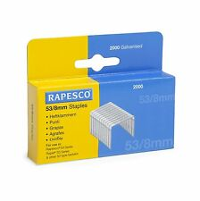 Rapesco 53/8mm agrafes-Agrafeuse agrafes Heavy Duty (Box 2,000)