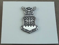 US Air Force ROTC Enlisted Flight Cap And Beret Badge Silver Oxide Finish - NOS