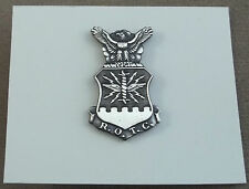 US Air Force ROTC Enlisted Flight Cap And Beret Badge Silver Oxide Finish