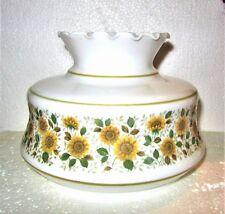 "QUOIZEL Floral Sunflower Hurricane Light Lamp Shade~6 3/4"" ~ 6.75"" Fitter~Fluted"