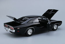 MAISTO 1/18 Black Dodge Charger 1969 Diecast Racing Car Fast & Furious Vehilces