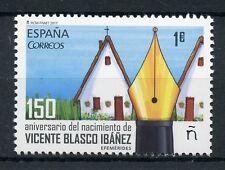 SPAGNA 2017 Gomma integra, non linguellato Vicente Blasco Ibanez 1v Set SCRITTORI LETTERATURA LIBRI FRANCOBOLLI