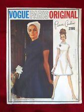 Vintage VOGUE PARIS ORIGINAL Sewing Pattern, Pierre Cardin 2190 A Line Dress, 14