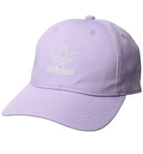 adidas Women's Originals Relaxed Adjustable Hat Cap Purple Glow/white