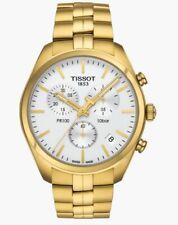 New Tissot PR 100 White Dial/Yellow Bracelet Unisex Watch T101.417.33.031.00