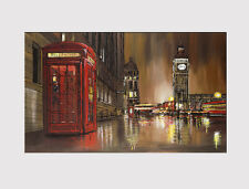 """411 X LARGE CANVAS 18"""" x 32"""" Wall Art regalo ROSSO PHONE BOX LONDON Print Picture"""