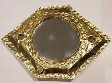 Moroccan brass coloured little pocket mirror handcrafted design 1