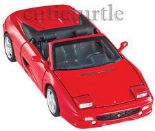 Hot Wheels Elite Ferrari F355 Spider Convertible 1:18 Diecast Model Red BLY34