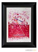 James ROSENQUIST Original HAND Signed ETCHING LTD ed. *STAR Leg +Custom FRAME