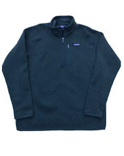 Patagonia Better Sweater Half-Zip Pullover Fleece Jacket Mens Large GREEN