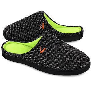 Men's Memory Foam Comfort Slippers Indoor Outdoor House Shoes Slip on Clogs