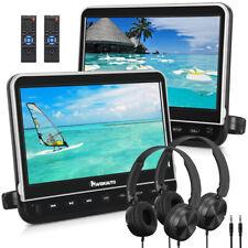 """NAVISKAUTO 2X10.1"""" HD Auto Kopfstütze DVD Player 1080P HDMI USB SD FM+Kopfhörer"""