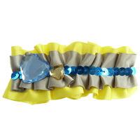 Barrette Pince À Cheveux  jaune grise bleu dorée satin paillettes sequin strass