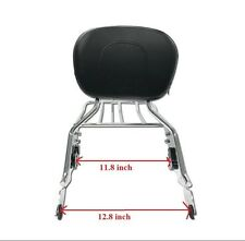 Chrome Backrest Sissy Bar w/ Luggage Rack For Harley Touring 09-17 Road Glide