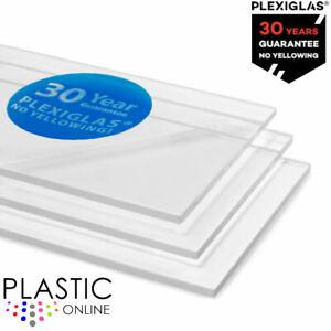 Clear XT Acrylic PLEXIGLAS Perspex Acrylic Sheet Material Panel Cut to Size