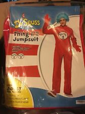 Dr Seuss Thing 1 2 Jumpsuit Costume Adult S/M NEW