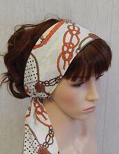 Self tie headscarf vintage style head wear summer head wrap womens head scarf