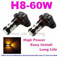 2x 60W Yellow High Power Bulb Led Fog Light fit 2013-2016 Hyundai Veloster Turbo