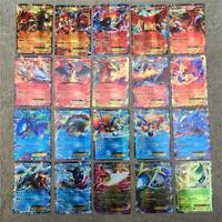 300Pcs Pokemon Cards 195GX+25MEGA+80EX English Booster Box Break Point Pikachu