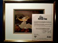 DUCKY & BUTTERFLY,LAND BEFORE TIME BLUTH STUDIOS KEY PRODUCTION CEL SETUP,FRAMED