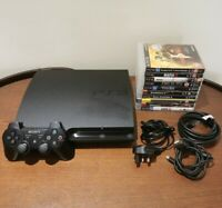 Sony PlayStation 3 Slim 320GB Console Mega Bundle 11 Games & Controller & Leads