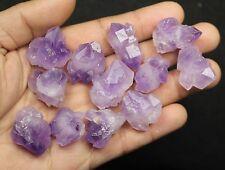 Lot de 12 cristaux d' Améthyste du Brésil/91,4 grammes (LITHOTHERAPIE)