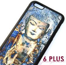 for iPhone 6+ / 6S+ Plus - Blue Buddha Hard TPU Rubber Gummy Skin Case Cover