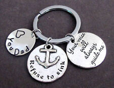 Your Voice will always guide me,Father's Day Gift,Father Keychain,