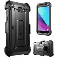 Samsung Galaxy J3 Emerge Case, SUPCASE Rugged Holster Cover w/ Screen Protector