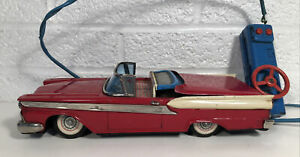 Vintage Cragstan Tin 1959 Ford Fairlane 500 Skyliner Battery Operated Japan