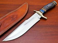 Rody Stan HANDMADE D2 CUSTOM PAKKA WOOD LARGE BOWIE HUNTING KNIFE - PK-2357