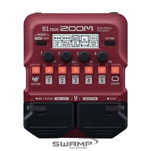 Zoom B1 FOUR Bass Multi-Effects Processor Pedal