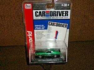 2013 Auto World Car & Driver Series 1971 Ford Mustang Mach 1 Metallic Green