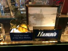 RARE C 1950s BREWERIANA: Lighted Vintage Hamms Beer Sign All Original - Works!!!