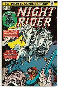 NIGHT RIDER#6 FN/VF 1975 MARVEL BRONZE AGE COMICS