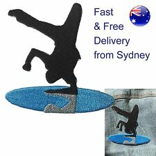 Break dancer iron on patch - dance moving cool kid acrobat heat transfer patches