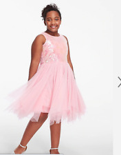 NWT JUSTICE Girls Size 16 Pink Sequin Tutu Dress