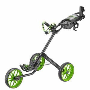 CaddyTek 15.3 V2 Deluxe Quad-Fold Push Golf Cart Version 2 - Green