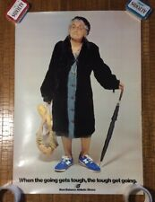 Rare Vintage Original New Balance Advertising Poster USA Made Old Lady Aime Leon