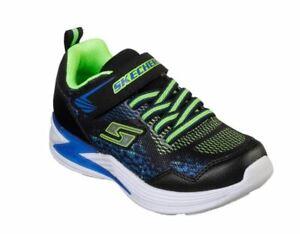 Skechers S Lights: Erupters III Derlo Kinder Schuhe Sneaker 90563L(Schwarz-BBLM)