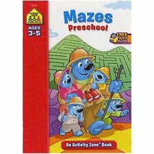 School Zone - Mazes Preschool Workbook - Ages 3 to 5, Preschool to Kindergarten,