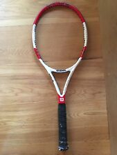 Used 2014 Pro Stock Wilson 6.1 95 18x20 332g Grip Size 4 Tennis Racquet/ Racket