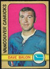 1972-73 OPC VANCOUVER CANUCKS DAVE BALON CARD #162 NR-MINT/MINT