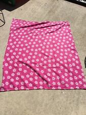 pink fleece blanket flowers children's blanket